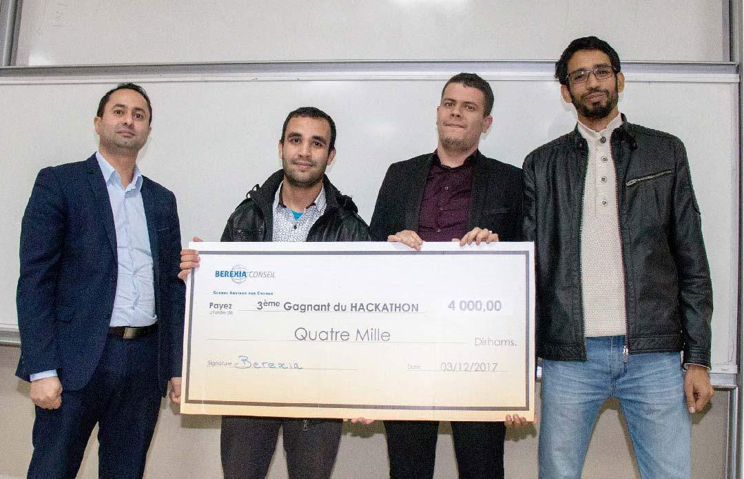 Les gagnants de l'hackathon au maroc