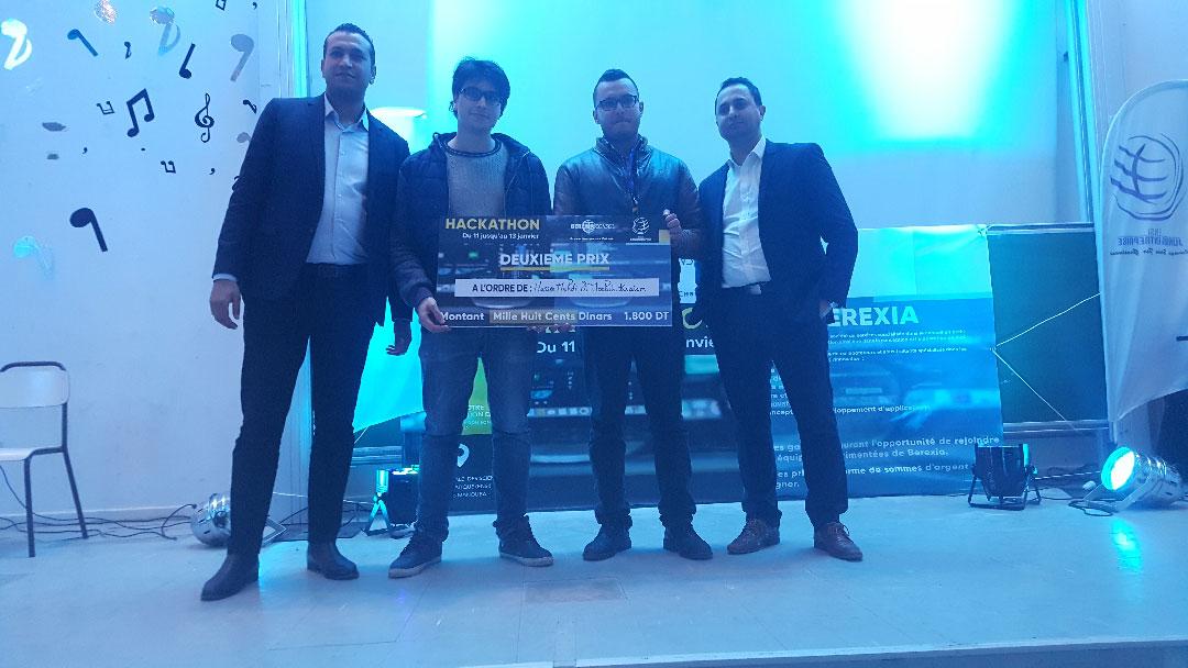 Les gagnants à l'hackathon de Tunis